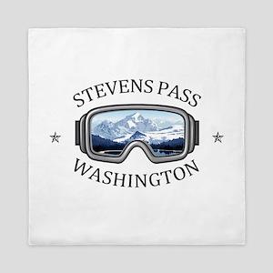 Stevens Pass Ski Area - Stevens Pass Queen Duvet