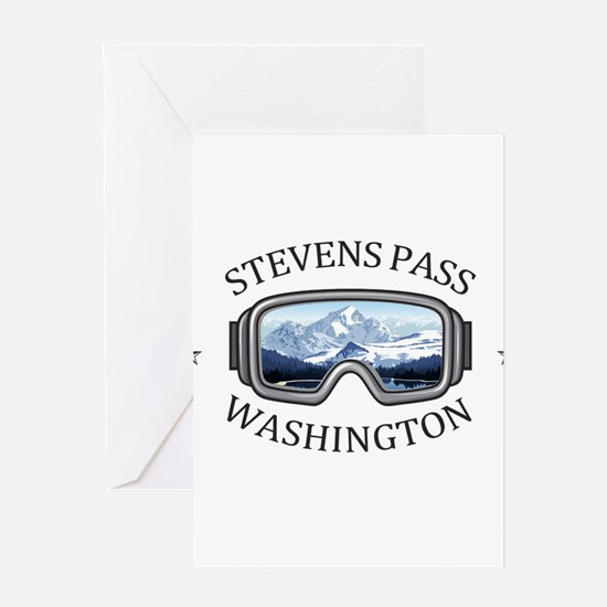 Stevens Pass Ski Area - Stevens P Greeting Cards