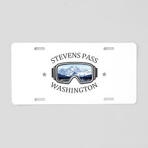 Stevens Pass Ski Area - S Aluminum License Plate