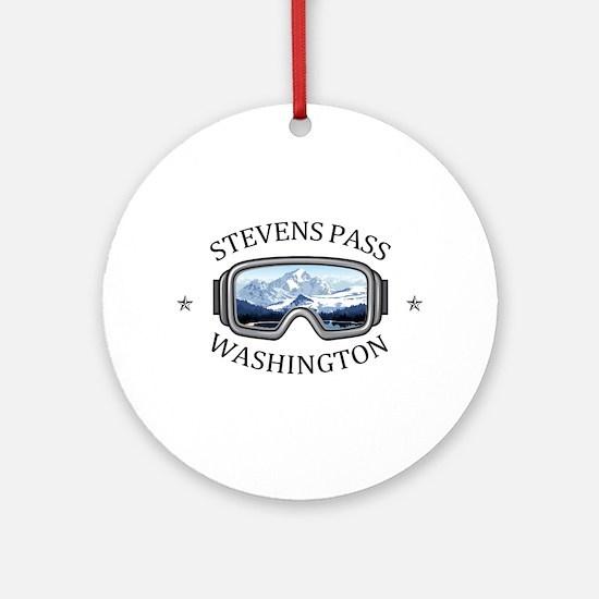 Stevens Pass Ski Area - Stevens P Round Ornament