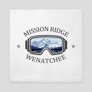 Mission Ridge Ski Area - Wenatchee - Queen Duvet