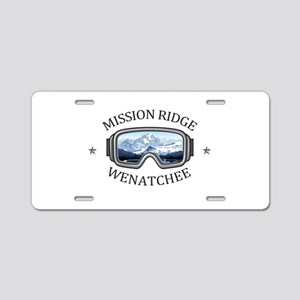 Mission Ridge Ski Area - Aluminum License Plate