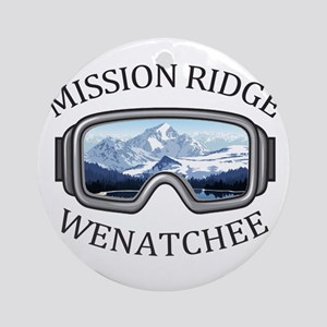 Mission Ridge Ski Area - Wenatche Round Ornament