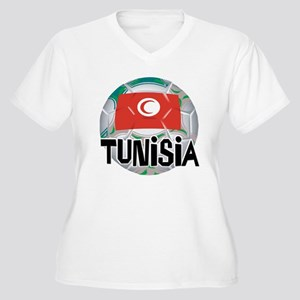 Tunisia Soccer Women's Plus Size V-Neck T-Shirt