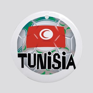 Tunisia Soccer Ornament (Round)