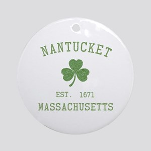 Nantucket Ornament (Round)
