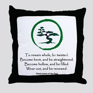 The Tao of the Tree Throw Pillow
