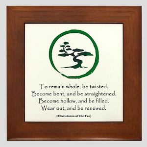 The Tao of the Tree Framed Tile