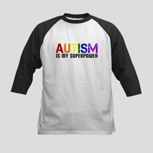 Autism is My Superpower Kids Baseball Jersey