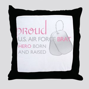 Proud U.S. Air Force Brat (pi Throw Pillow