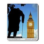 Big Ben, Winston Churchhill statue, Mousepad
