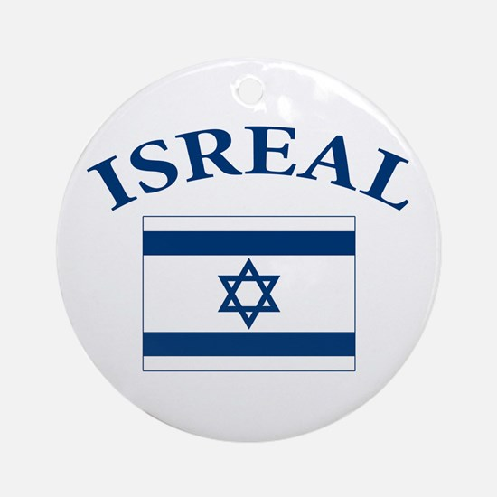 I love Isreal Ornament (Round)