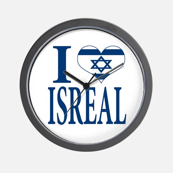 I love Isreal Wall Clock