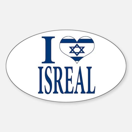 I love Isreal Sticker (Oval)