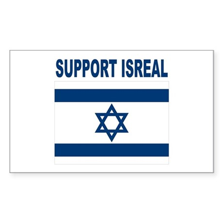 Support Isreal Sticker (Rectangle)