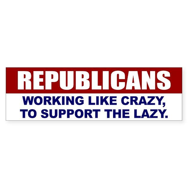 Republican bumper bumper sticker by rightwingusa