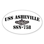 USS ASHEVILLE Sticker (Oval)