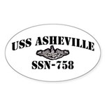 USS ASHEVILLE Sticker (Oval)