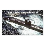 USS ASHEVILLE Sticker (Rectangle)