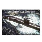 USS ASHEVILLE Postcards (Package of 8)