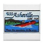 USS ASHEVILLE Tile Coaster