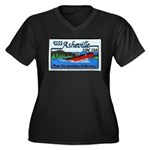 USS ASHEVILLE Women's Plus Size V-Neck Dark T-Shir