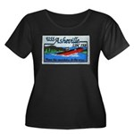 USS ASHEVILLE Women's Plus Size Scoop Neck Dark T-