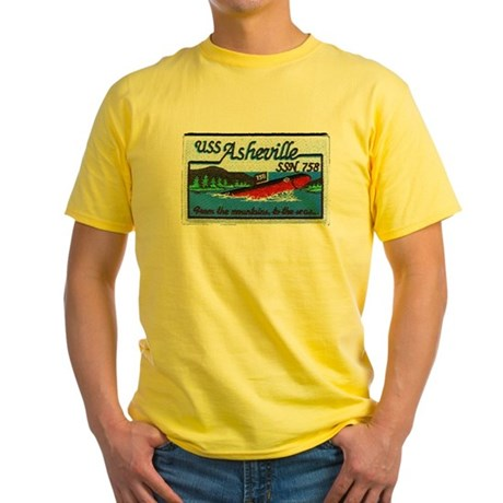 USS ASHEVILLE Yellow T-Shirt