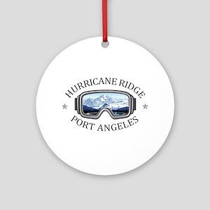 Hurricane Ridge Ski and Snowboard A Round Ornament