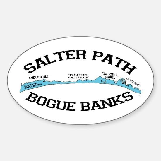 Salter Path NC - Map Design Sticker (Oval)