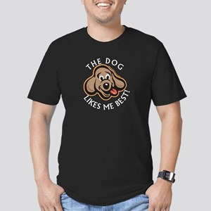 Dog Likes Best - Men's Fitted T-Shirt (dark)