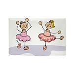 Ballet Dancers Rectangle Magnet