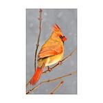 Cardinal on Branch Sticker (Rectangle 50 pk)