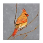 Cardinal on Branch Tile Coaster