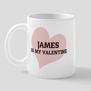 James Is My Valentine Mug