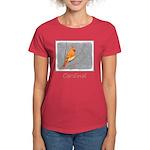 Cardinal on Branch Women's Dark T-Shirt