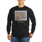 Cardinal on Branch Long Sleeve Dark T-Shirt