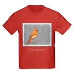 Cardinal on Branch Kids Dark T-Shirt