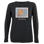 Cardinal on Branch Plus Size Long Sleeve Tee