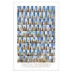 Faith Inspires 171 Church Steeples Poster