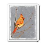 Cardinal on Branch Mousepad