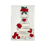 Wedding Cake Rectangle Magnet