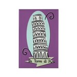 Leaning Tower Rectangle Magnet