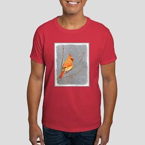 Cardinal on Branch Dark T-Shirt