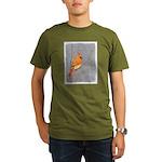 Cardinal on Branch Organic Men's T-Shirt (dark)