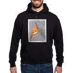 Cardinal on Branch Hoodie (dark)