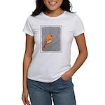 Cardinal on Branch Women's Classic White T-Shirt