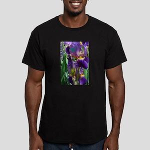 PURPLE IRIS Men's Fitted T-Shirt (dark)