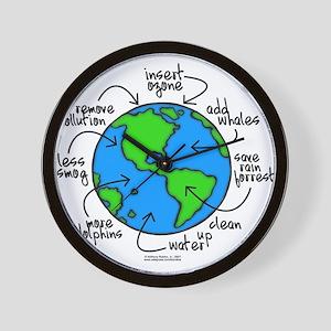 To Do Globe Gear Wall Clock