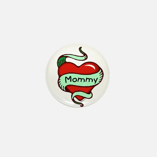 Mommy in Heart Mini Button